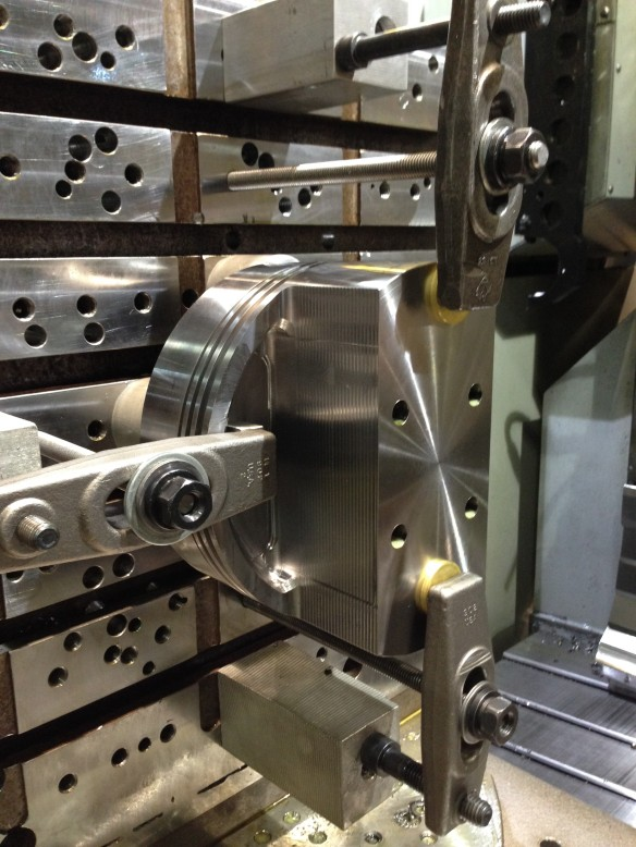 Machining processes on the piston.